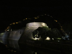Kotor  wall at night