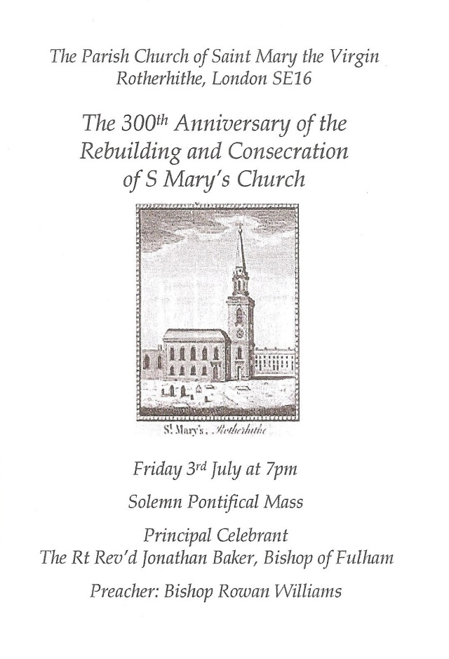 St Mary's 300th Anniversary Program